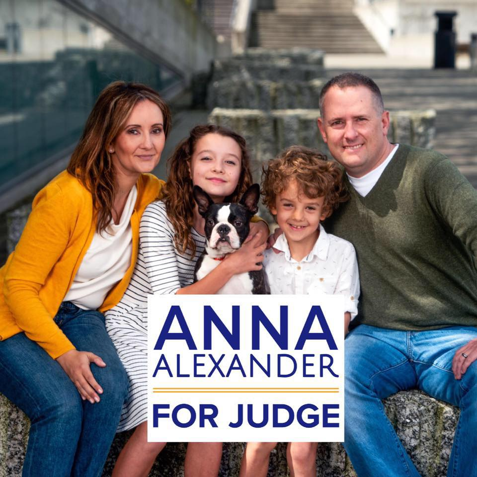Anna Alexander, the Lawyer in Red Suit